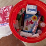 Contents of hygiene kit distributed by ACT members include essential items such as hygiene kits containing first aid equipment, soap, shampoo, water purifiers and sanitary products which are essential for enabling people to keep clean and healthy, and maintain a sense of personal dignity ACT/Christian Aid/Sarah Malian