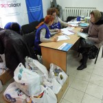 Distribution of humanitarian aid on 1st February by Hungarian Interchurch Aid. From the support of ACT Alliance 260 IDP families received food, hygienic packages in Zaporizhia Gabor Balint/ACT/Hungarian Interchurch Aid