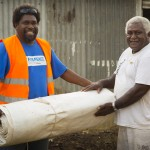 On Friday 13 March 2015, category 5 Tropical Cyclone Pam lashed the islands of Vanuatu bringing with it destructive winds surpassing 300kph, heavy rainfall, storm surges and flooding. Large parts of the country were severely affected.   Act for Peace (AfP) have supported the immediate needs of the disaster affected population (initial response) as well as their medium/longer term needs (early recovery). Initial response included the provision of WASH materials (hygiene kits) and water purification units, assistance with food distribution efforts along with seeds and farming tools to revive homestead gardens. These activities will be undertaken through local partner the Vanuatu Christian Council (VCC).  Act for Peace in partnership with the Vanuatu Christian Council (VCC) has distributed tarpaulins to churches that were identified as appropriate cyclone evacuation centers (those with strong structural elements as well as bathroom and cooking facilities). The tarpaulins are providing important temporary roofing to allow churches to return as quickly as possible to their regular function not only as a place for church services but for important community gatherings including acting as food distribution areas, mothers group venue, youth group center and general spiritual and mental health support space for the community suffering stress and trauma following Cyclone Pam.  Churches are a significant community centre point for people to come together to connect and support each other.  With so many church roofs destroyed by Cyclone Pam some churches have had to halt community activities for weeks following Cyclone Pam meaning communities were not able to connect and continue their support activities.   Act for Peace in partnership with the Vanuatu Christian Council (VCC) ran independent needs assessments across several islands determining the requirements for the churches.  On many occasions VCCâs distribution of tarpaulins arrived more quickly to churches that had applied to the government weeks earlier for help and had not yet received any roofing aid.