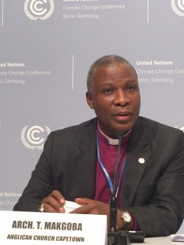 ACT Alliance Global Climate Ambassador, the Archbishop Thabo Makgoba of Cape Town