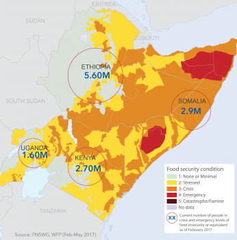 Map drought in horn africa