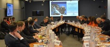 Dr. Jim Yong Kim addresses the faith-based organisations round table at the World Bank in Washington, DC.  Photo: World Bank