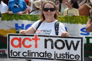Alison Kelly at the People's Climate March in Washington, DC. Photo: Megan Cagle/CWS