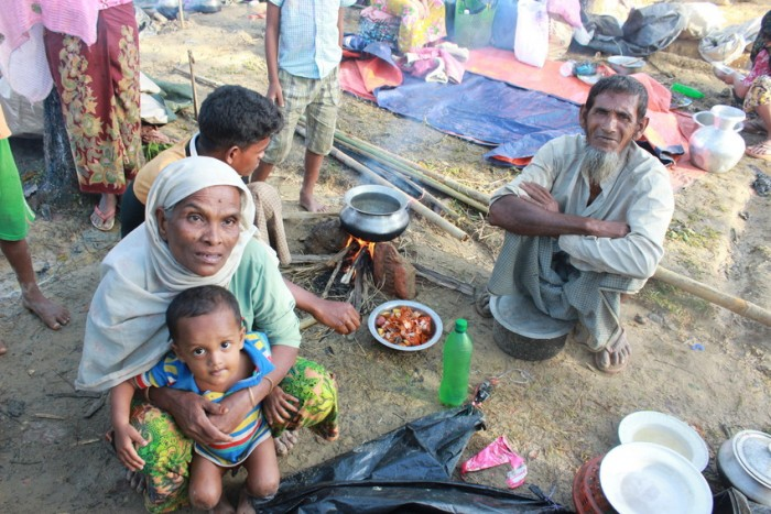 Rohingya refugee camps in Cox's Bazar (Bangladesh).