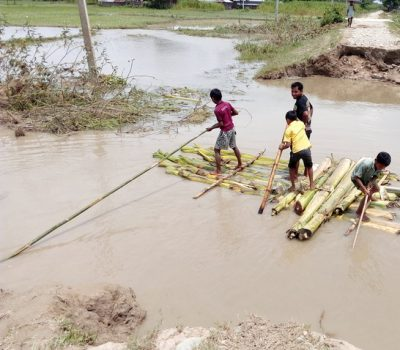Image showing flood situation in Jhapa