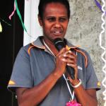 Photo of woman speaking at Gender equality workshop in Vanuatu