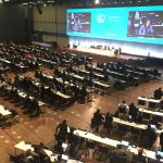 Photo of plenary session at climate conference