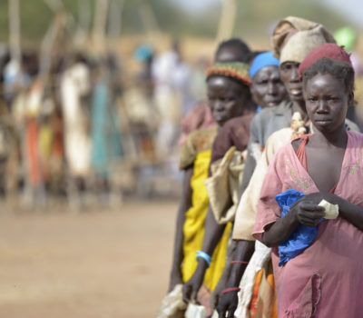 Photo of women waiting in line in S.Sudan