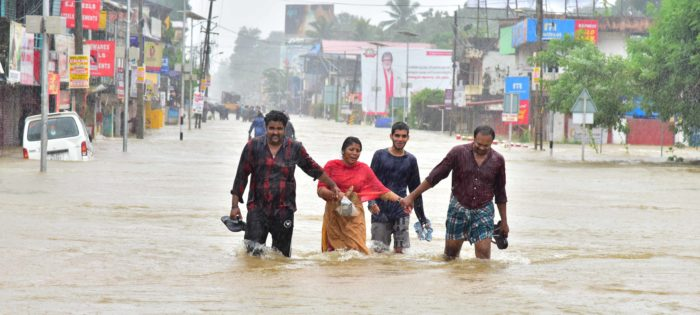 Rescue operations underway after severe flooding in Kerala, India. Photo: Shishir Kurian/CSI