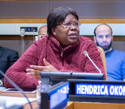 Hendrika Okondo speaking at the 52nd Commission on Population and Development during a side event. Photo: Simon Chambers/ACT