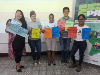 Photo of students from Peace and capacity building Workshop