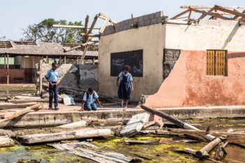 Classrooms destroyed by cyclone